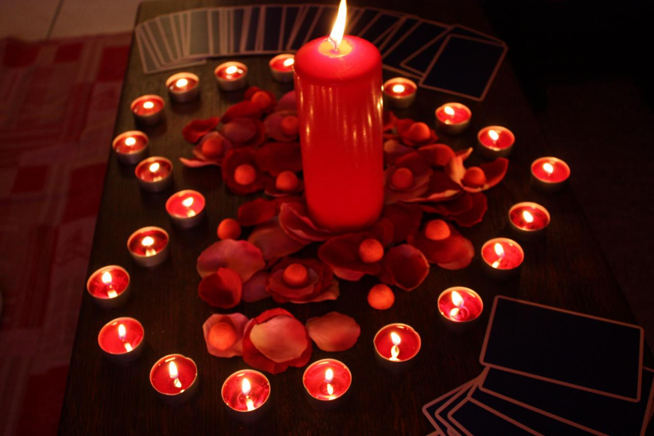 cœur bougies